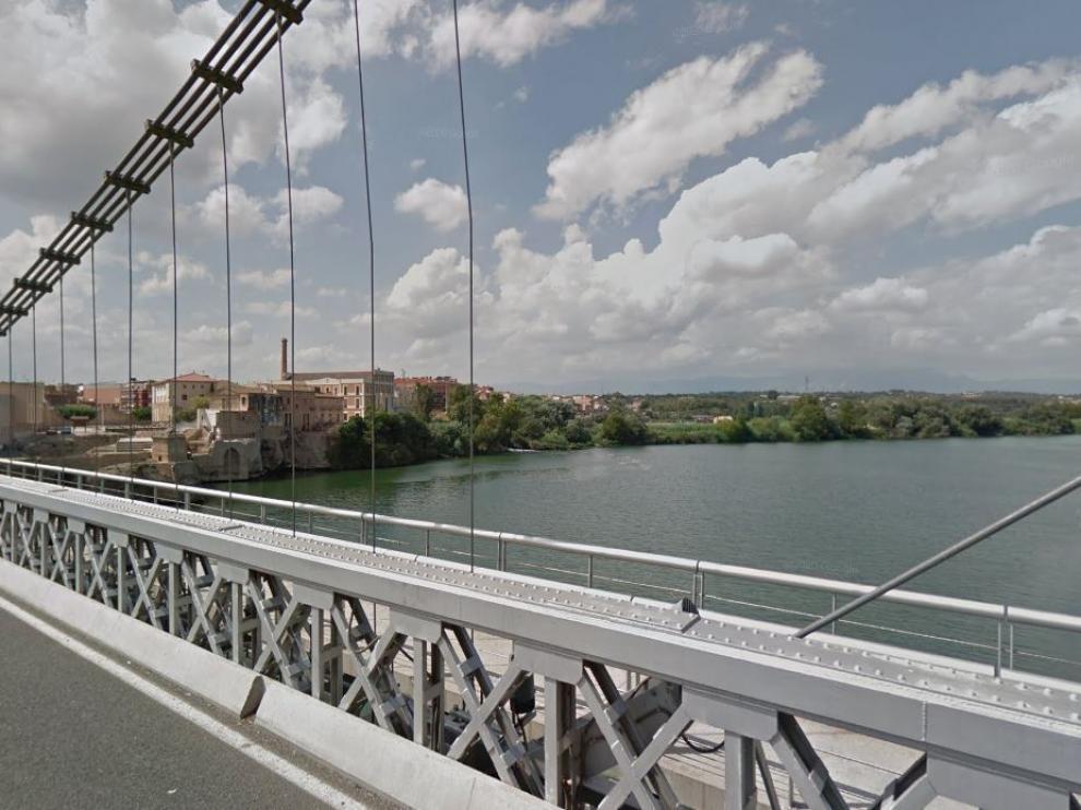 El Ebro a su paso por Amposta, en la comarca de la Montsià.