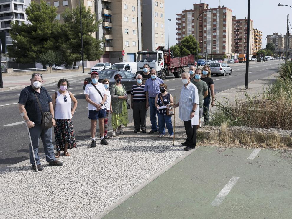 """Los vecinos piden actuar en la avenida de Cataluña para """"cerrar la cicatriz"""" y atraer viviendas"""
