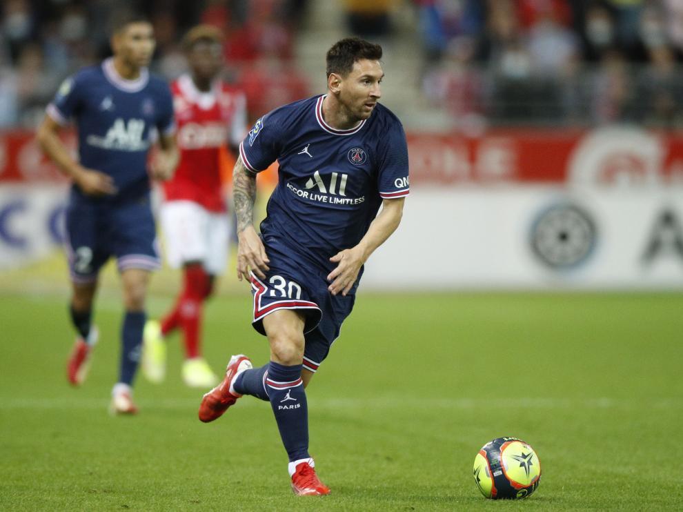 Messi, en el partido del Paris St Germain.