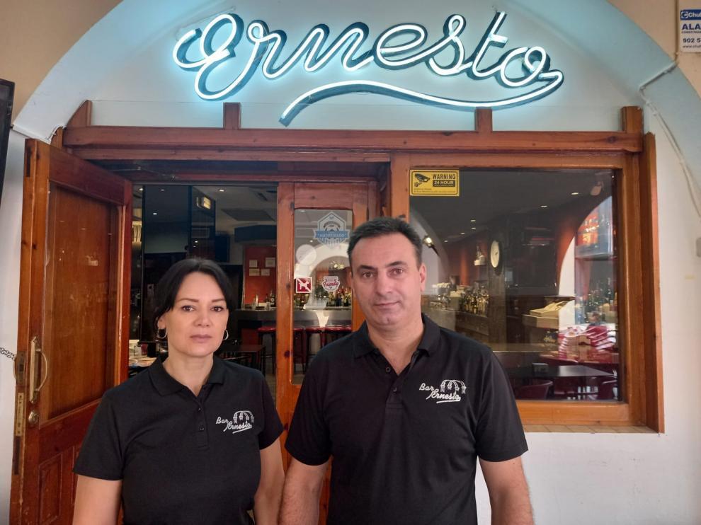 Natalya Sidor y Nikolas Balan abrieron su segundo bar en Belchite en julio de 2020.