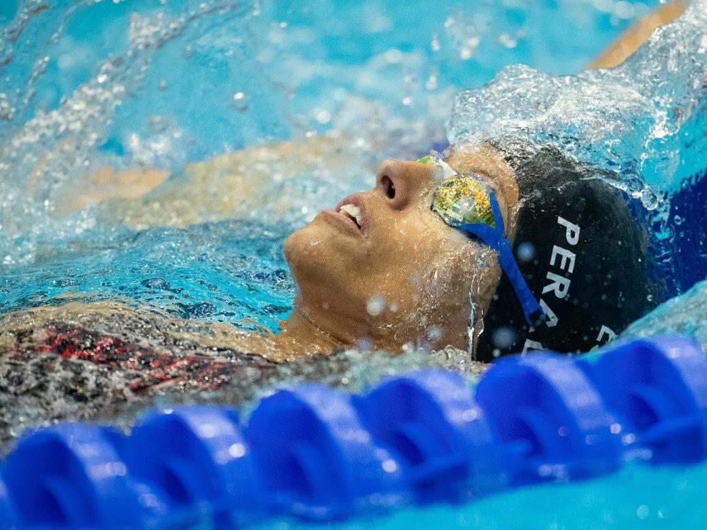 Teresa Perales en la piscina