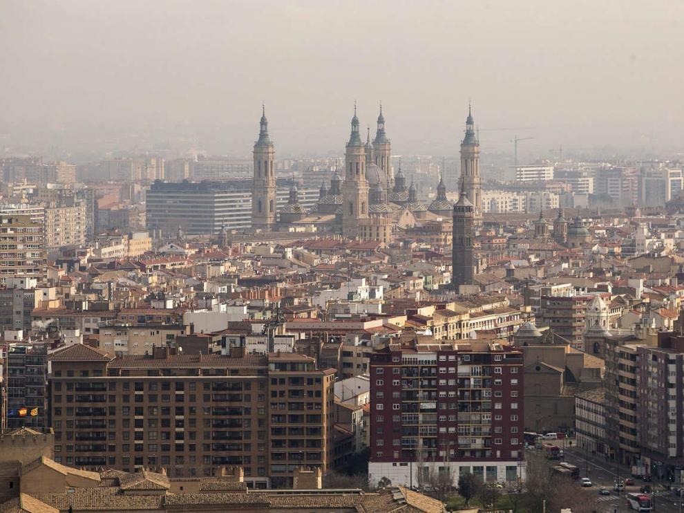 Vista panorámica desde la última planta del edificio de Torre Zaragoza