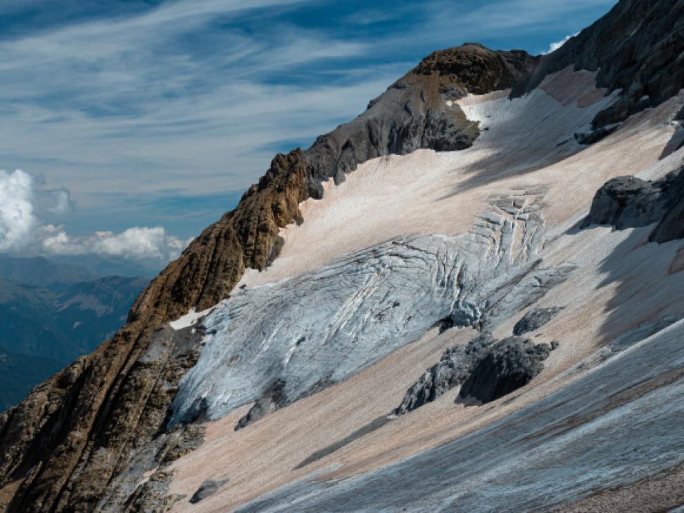 Imagen del glaciar inferior de Monte Perdido.