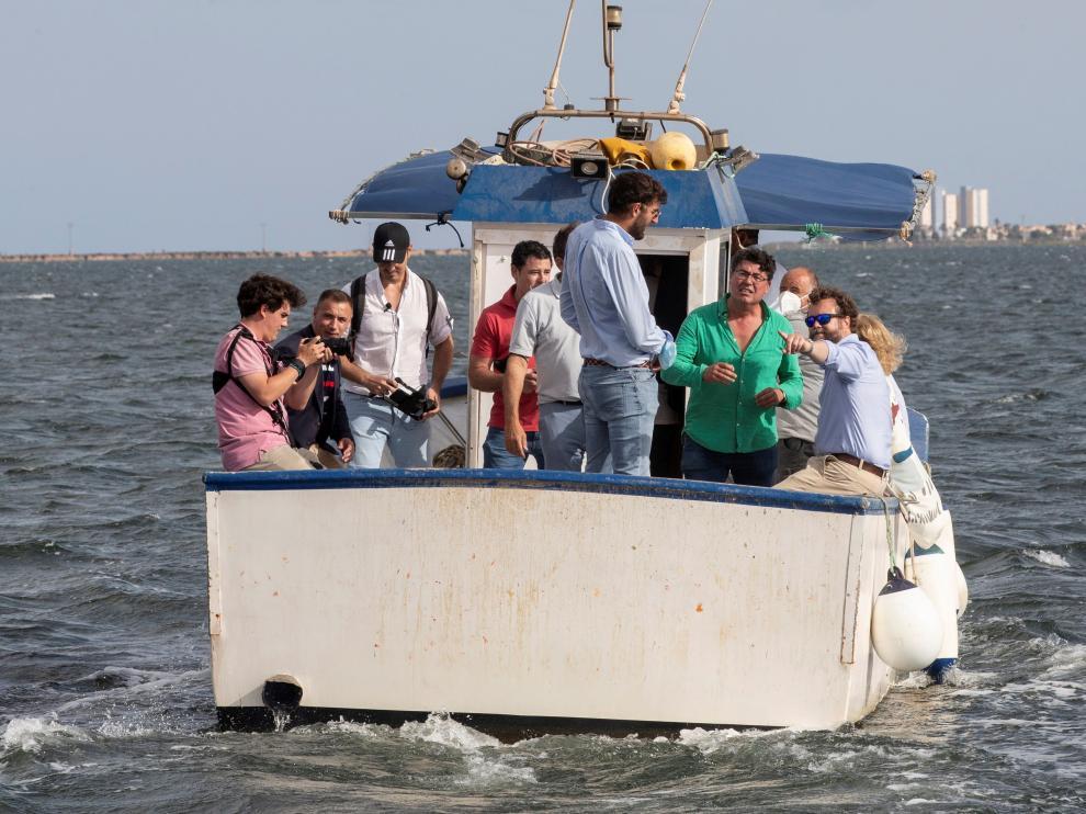 Iván Espinosa de los Monteros visita Mar Menor