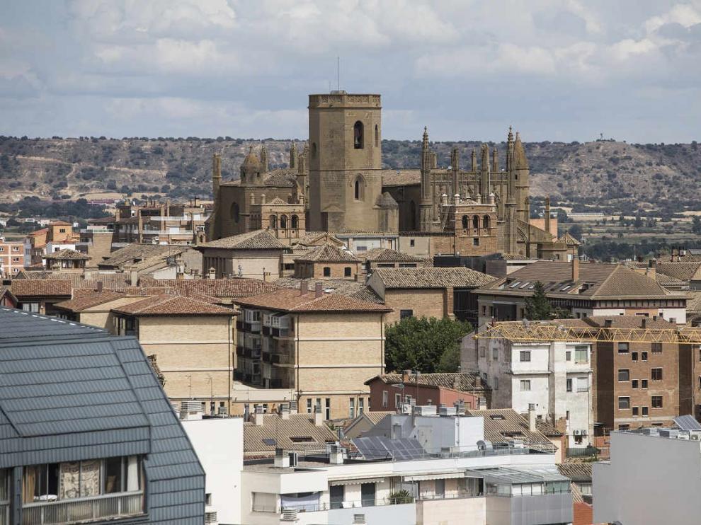Vista de la ciudad de Huesca.
