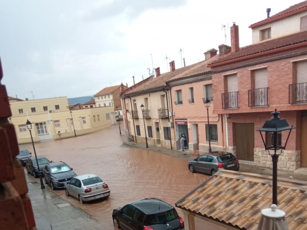 Así ha quedado el barrio Verde de Santa Eulalia tras la tormenta