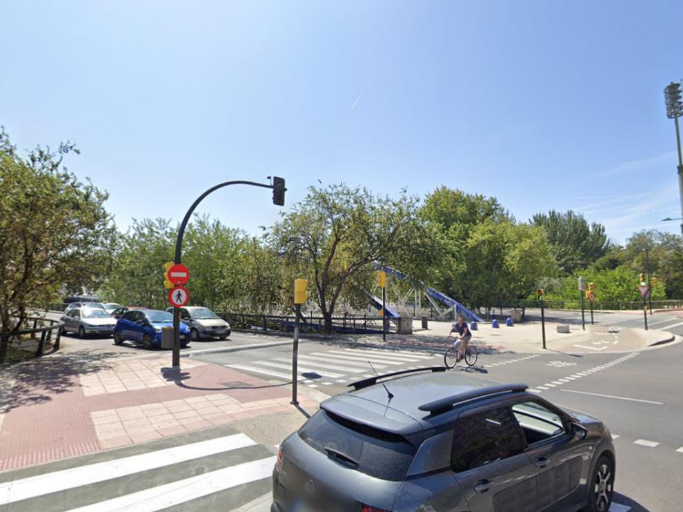 El atropello se produjo en un paso de cebra de la avenida Puente del Pilar de Zaragoza.
