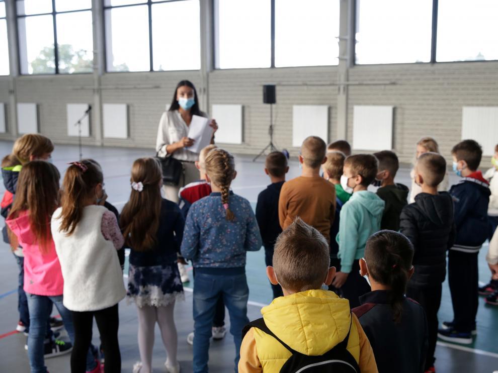 Start of the new school year for elementary school children