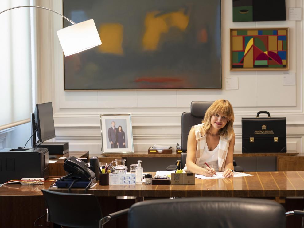 La ministra de Educación y Formación Profesional, la aragonesa Pilar Alegría.