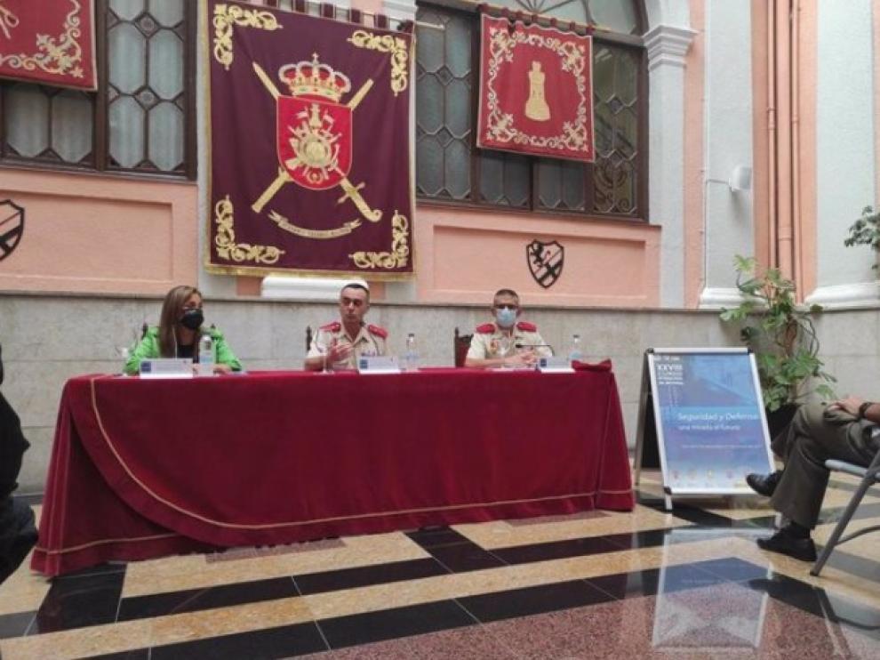 Presentación del XXXVIII Curso Internacional de Defensa, en Palacio de la Antigua Capitania General de Zaragoza