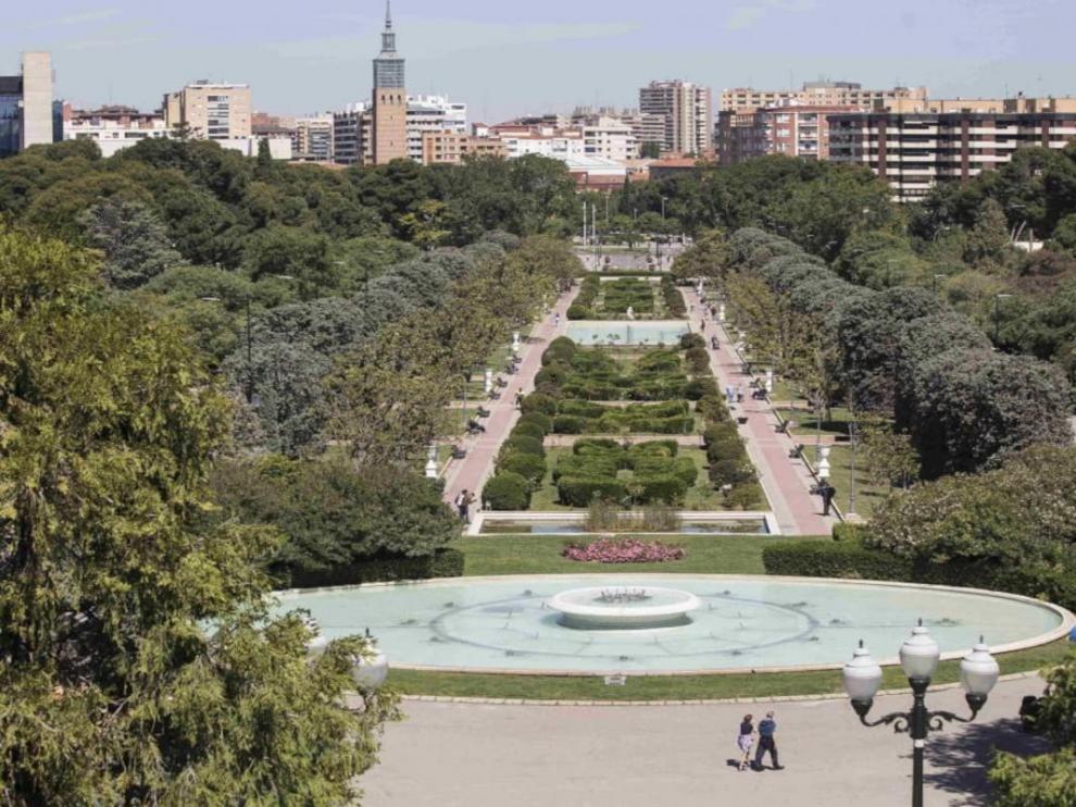 Vista del parque Grande José Antonio Labordeta de Zaragoza