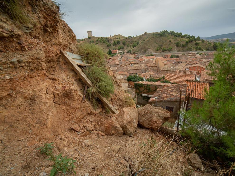 Desprendimientos de la muralla de Daroca
