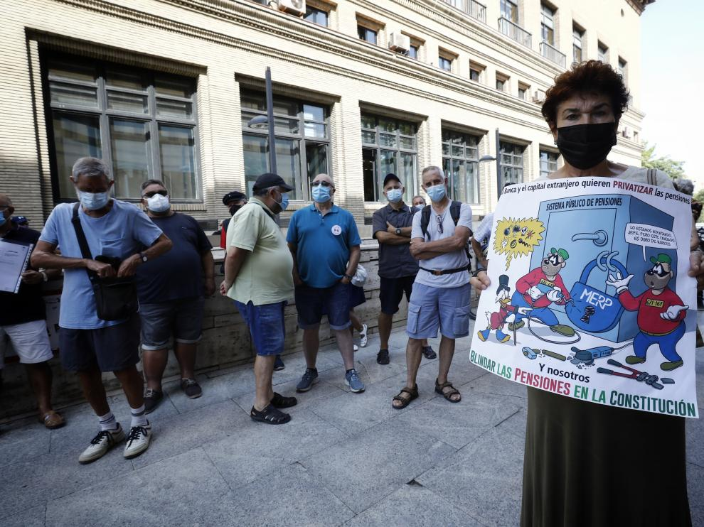 Protesta de la Coordinadora en defensa del sistema público de pensiones.