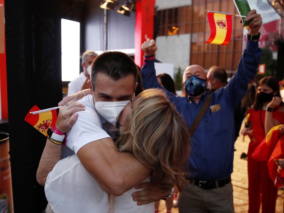 Recepción de los deportistas paralímpicos en Madrid