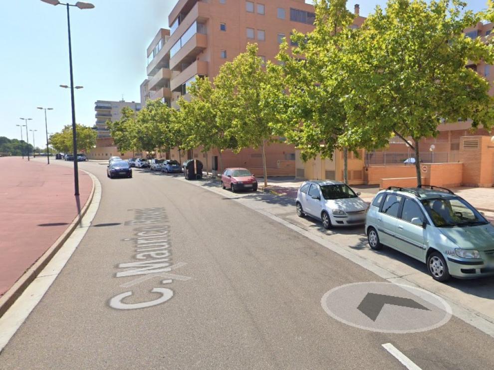 Los jóvenes fueron detenidos en la calle de Maurice Ravel en Zaragoza.