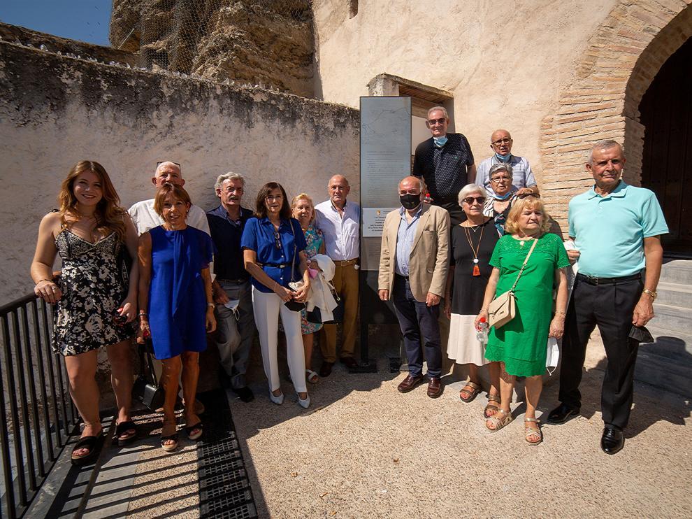 Calatayud homenajea a la familia García Abián por la cesión gratuita del castillo de la Torremocha