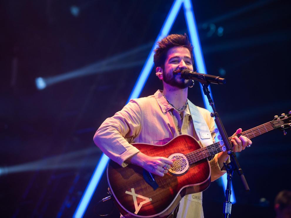 Camilo conectó con el público con sus canciones y con su naturalidad.