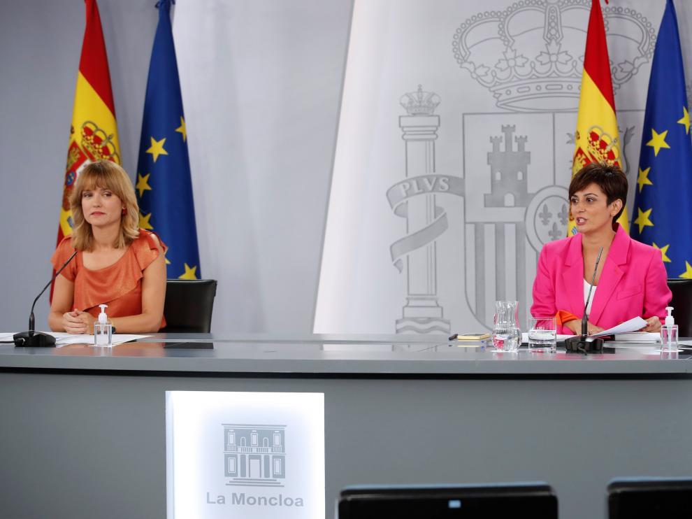 Pilar Alegría tras el consejo de Ministros