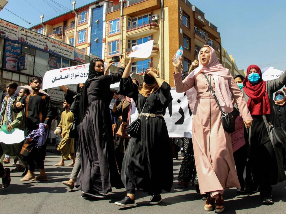 Protesta en Kabul