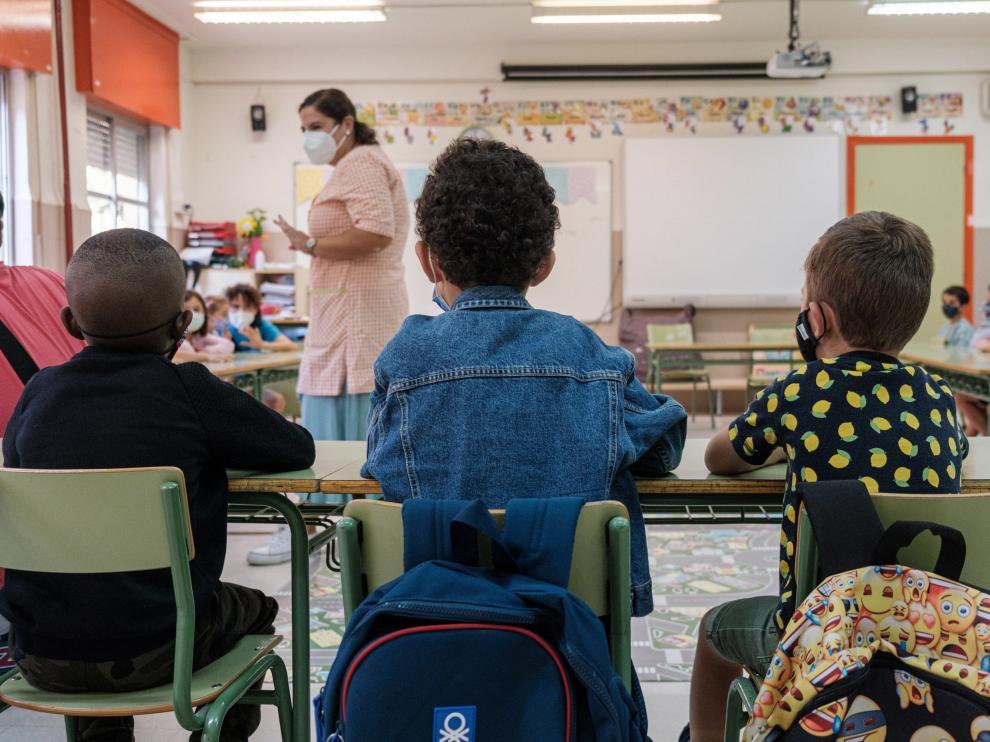 Regreso a las aulas este lunes en La Rioja, una de las primeras comunidades en comenzar el curso escolar.
