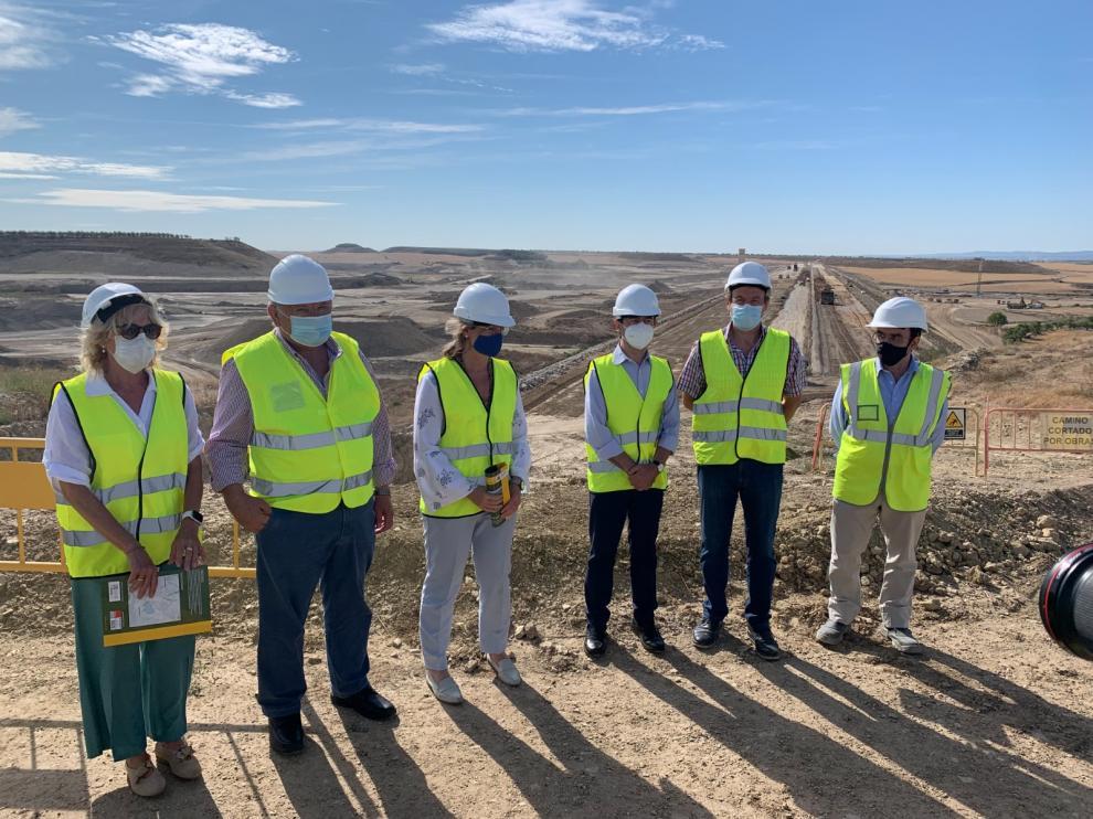 Una visita oficial a las obras del embalse, el pasado mes de agosto.