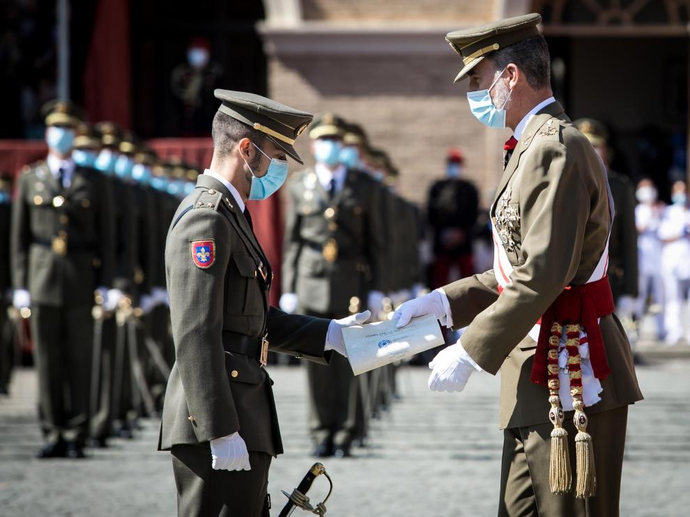El Rey asistió en julio a la entrega de despachos de la Academia General Militar.