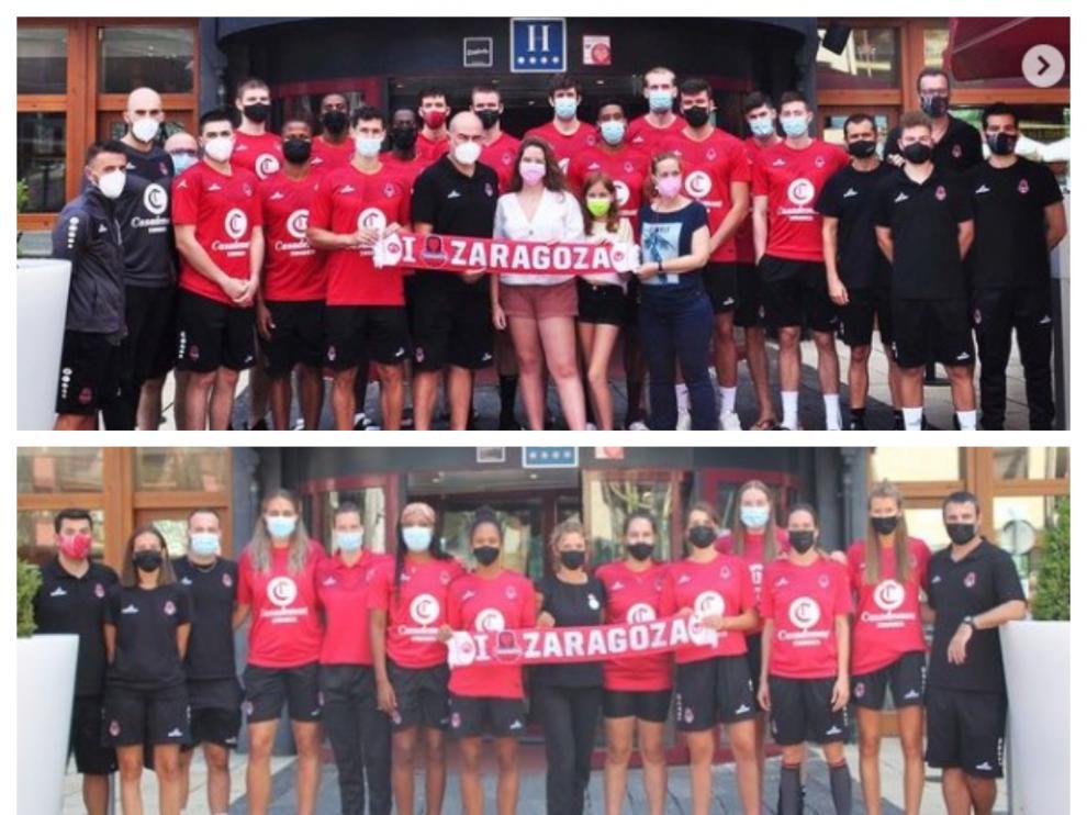 Equipos masculino y femenino del Casademont