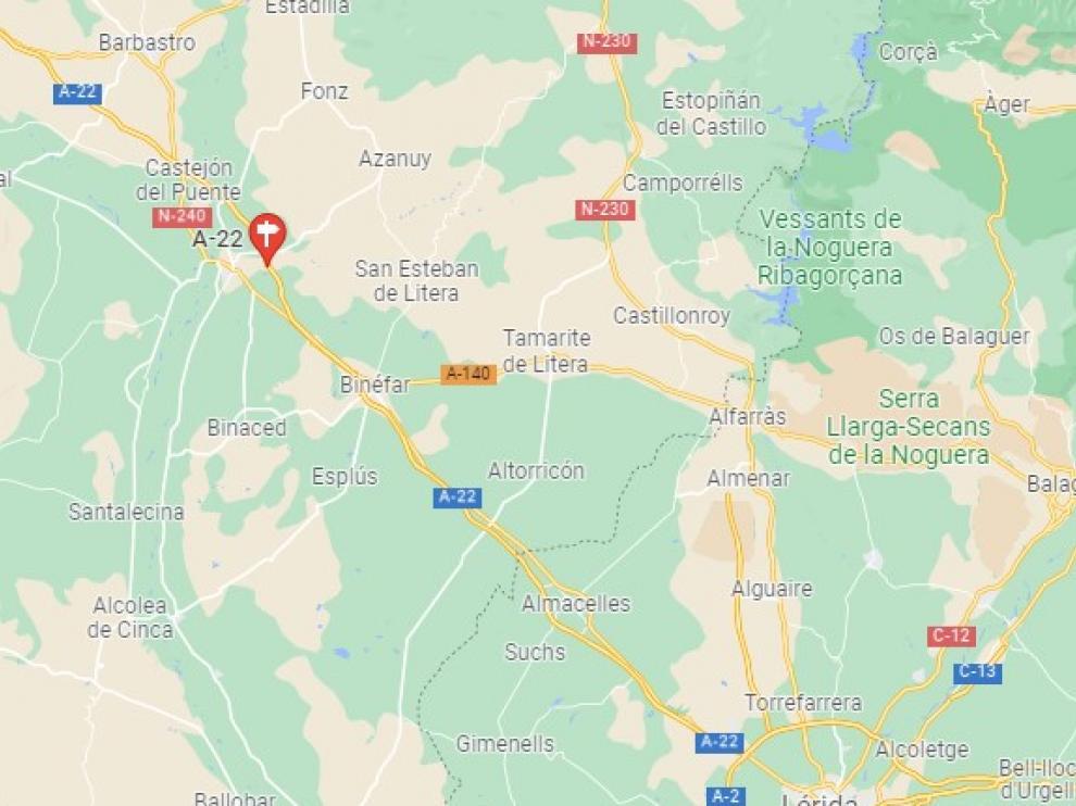 El vecino de Barbastro fue interceptado en la A-22 en el término municipal de Lérida.