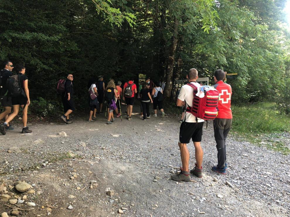 Los voluntarios han realizado también trabajos de sensibilización sobre el respeto a las normas del Parque.