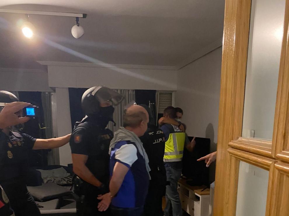 Momento de la detención de Hugo Carvajal