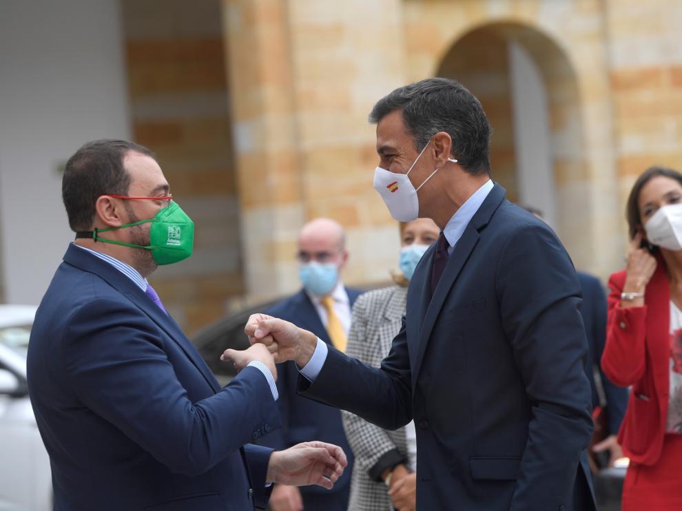 Pedro Sánchez visitar el Centro Integrado de Formación Profesional de La Laboral, en Gijón