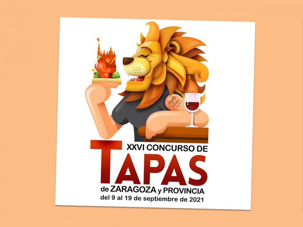 Cartel del Concurso de Tapas de Zaragoza y provincia 2021.