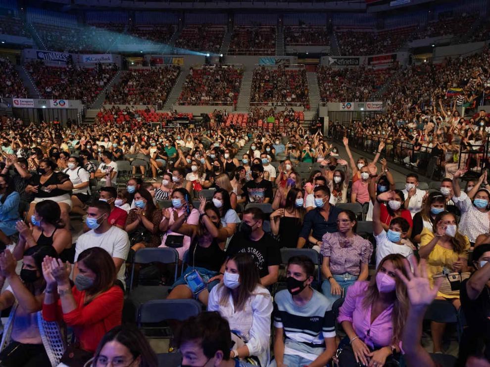 Concierto de Camilo en el pabellón Príncipe Felipe de Zaragoza el 7 de septiembre de 2021.