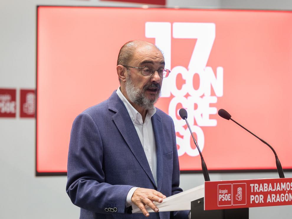 Javier Lambán en el Congreso del PSOE