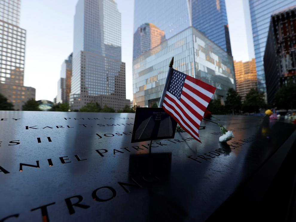 A genera view of the New York skyline and the Brooklyn Bridge on the 20th anniversary of the September 11, 2001 attacks in New York City, New York, U.S., September 11, 2021. REUTERS/Mario Anzuoni[[[REUTERS VOCENTO]]] USA-SEPT11/