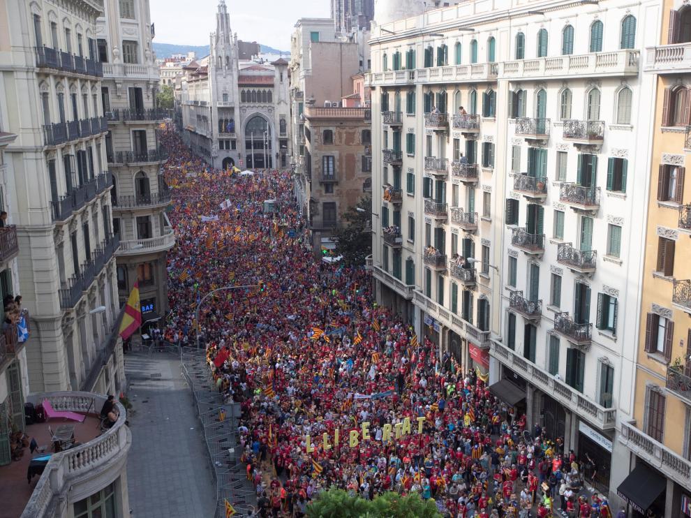 Manifestación de ANC por Diada en Barcelona