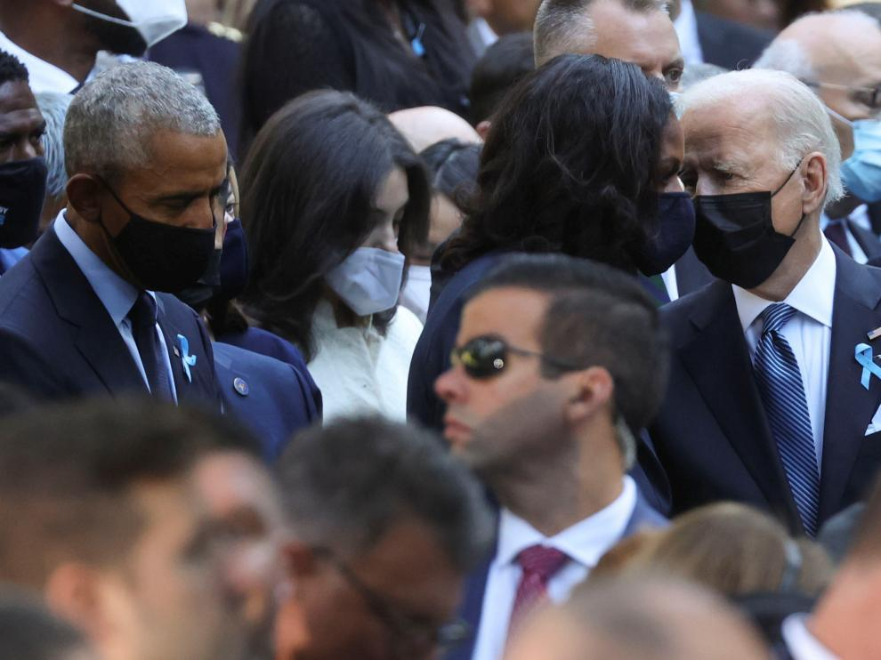 President Biden participates in a ceremony at the 9/11 Memorial in New York