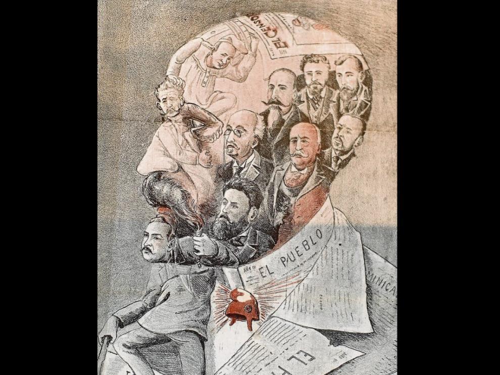 Eran frecuentes en prensa de la época caricaturas de los 'héroes y profetas del saber'