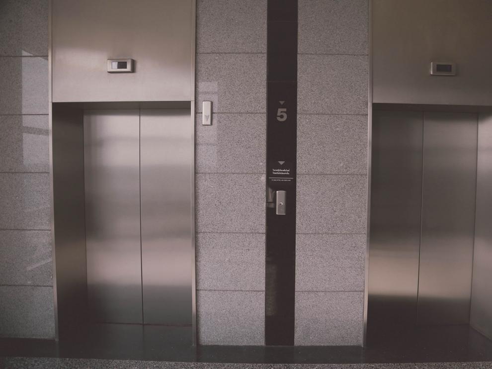 Fotografía de archivo de un ascensor