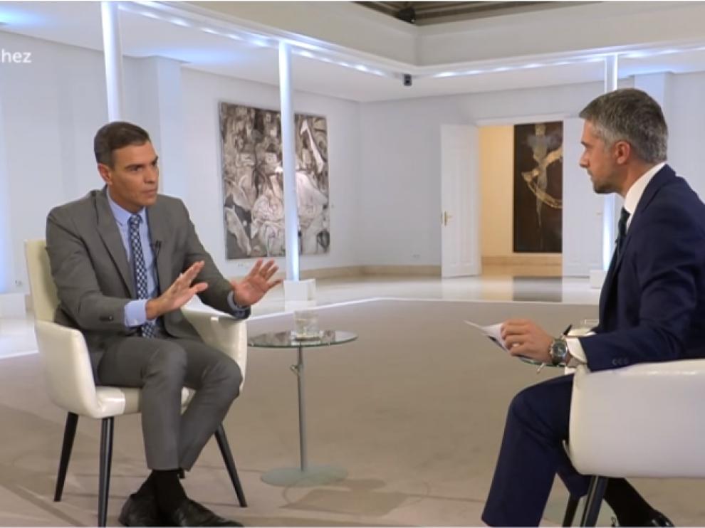 Entrevista a Pedro Sánchez en Televisión Española