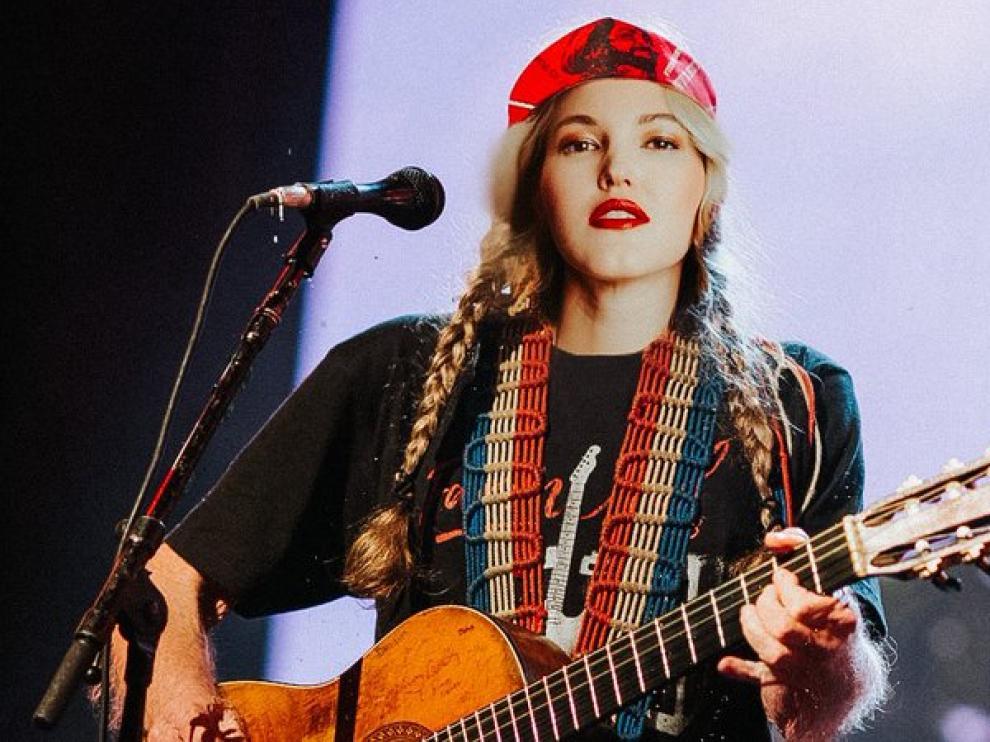 Ashley Campbell ofreció un concierto el domingo en la sala Rock & Blues Café de Zaragoza