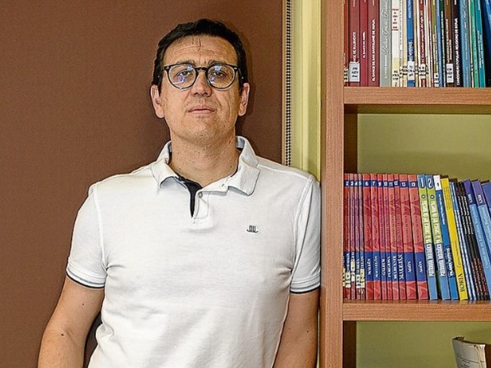 Gil Alejandre, en el Centro de Estudios Bilbilitanos