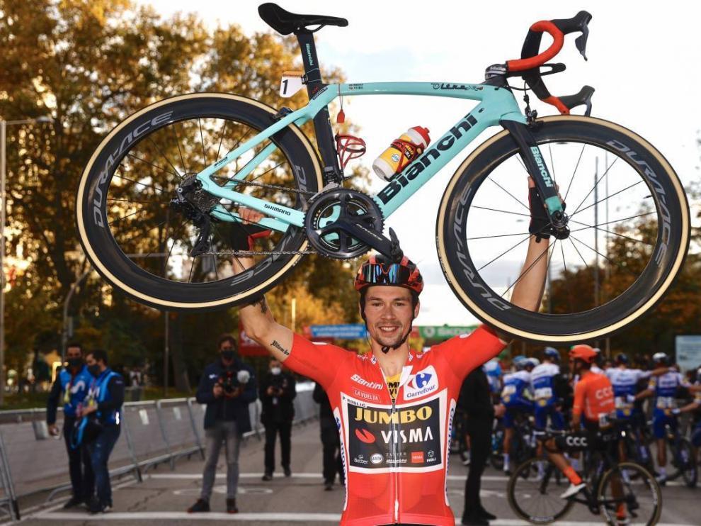 Primoz Roglic, ganador de la última Vuelta a España, la tercera de su palmarés