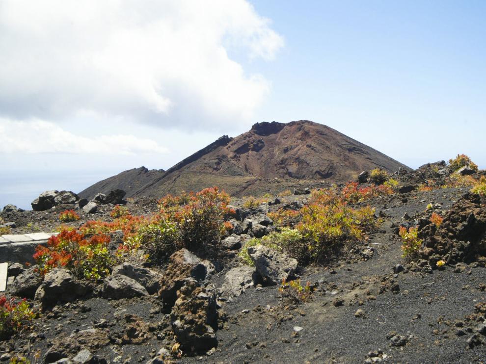 Cima del volcán Cumbre Vieja