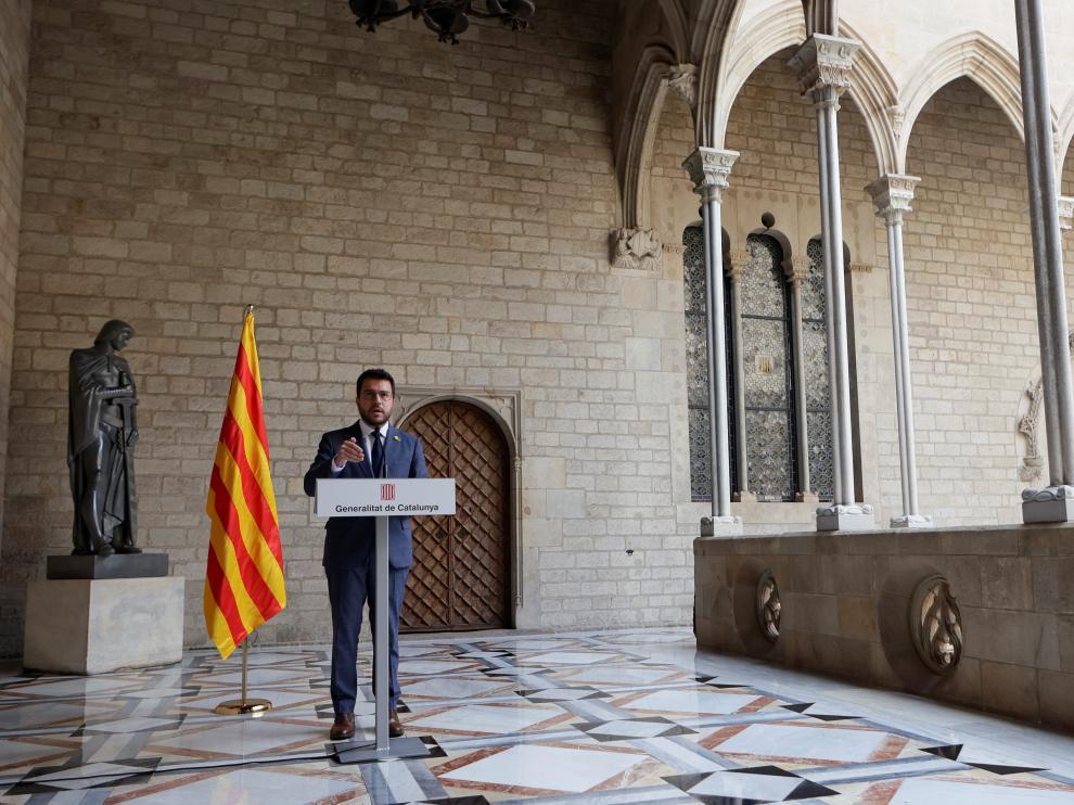 Comparecencia de Pere Aragonès