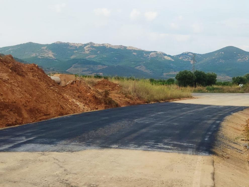 La carretera de Cosuenda actualmente y reabierta al tráfico