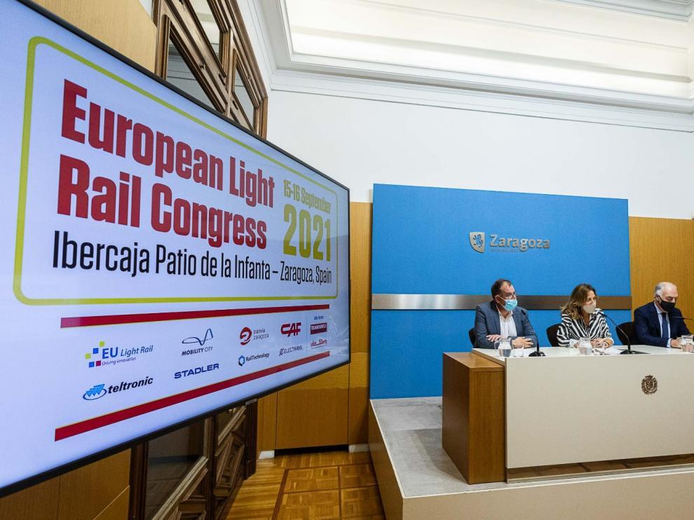 Presentación del Congreso Europeo de Tranvías en Zaragoza