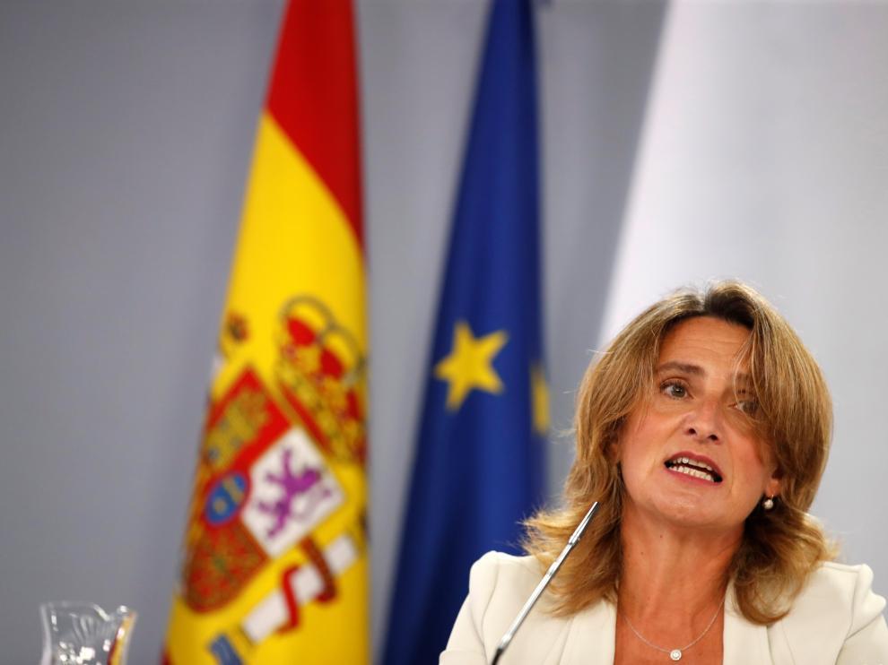 Teresa Ribera, durante la rueda de prensa posterior al Consejo de Ministros.