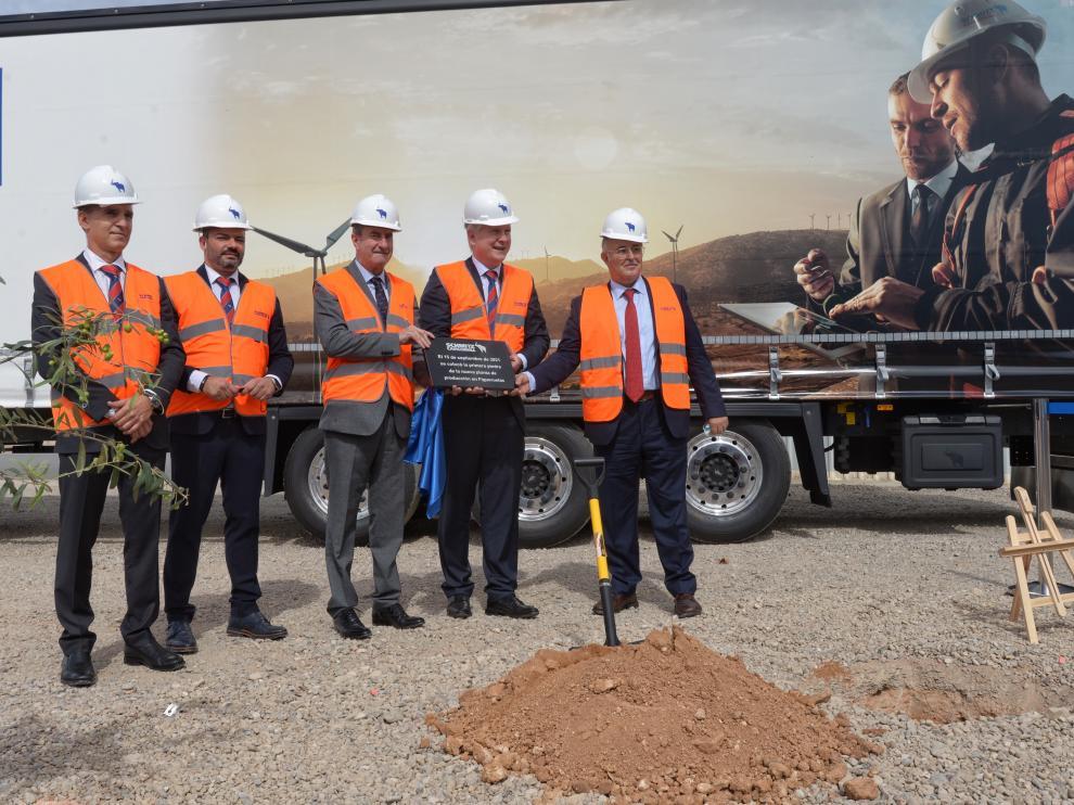 Acto colocación de la primera piedra de Schmitz Cargobull en Figueruelas