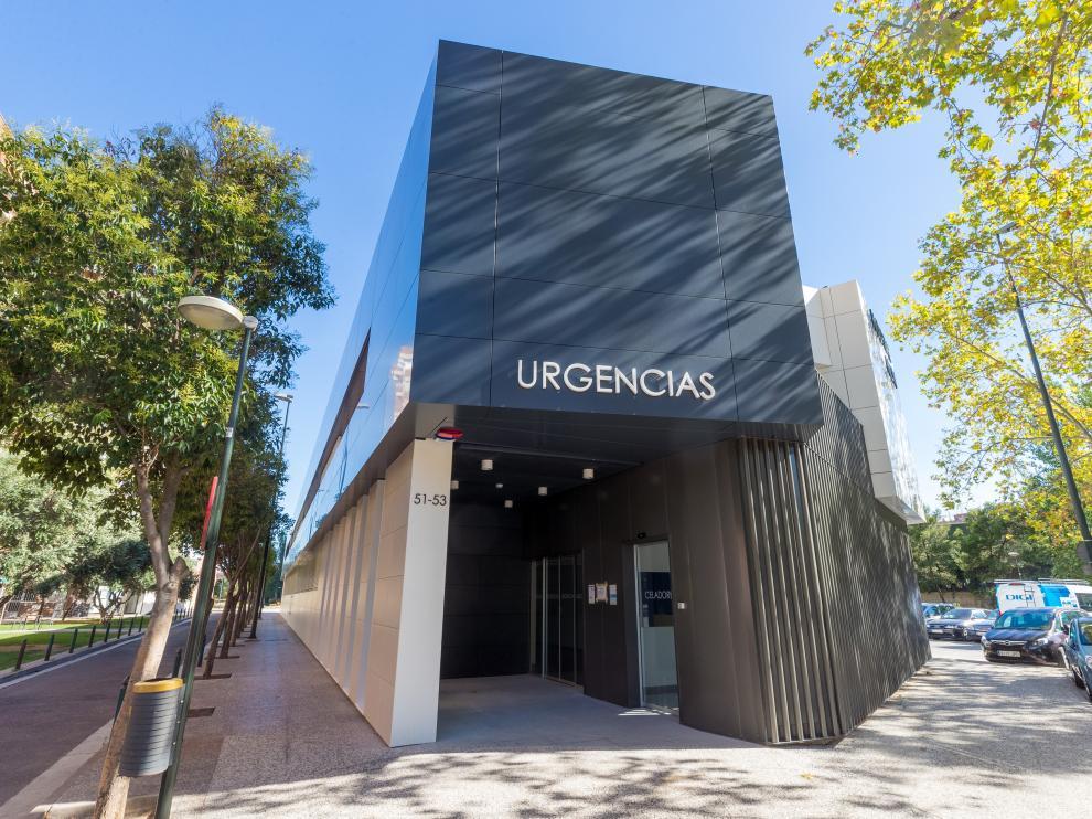 El acceso a urgencias del Hospital HC Miraflores.